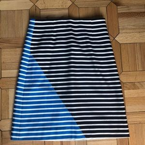 J Crew Striped Pencil Skirt Sz 10
